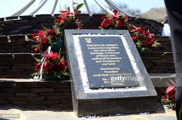 The unveiling of a monument dedicated to President Jacob Zuma at the Groot Marico site on October 05 2017 in North West South Africa Zuma recalled...