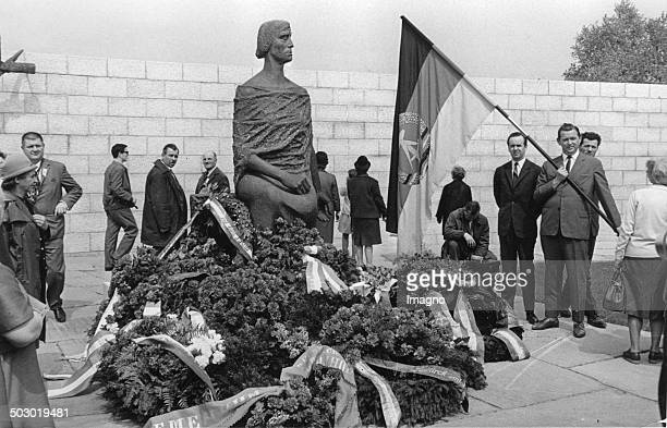 The unveiling of a monument of the German Democratic Republic in the former concentration camp Mauthausen The monument was built by order of the...