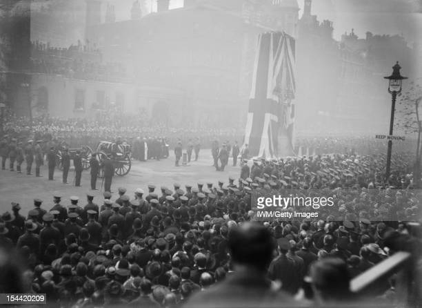 The Unveiling Of The Cenotaph London King George V prepares to unveil the Cenotaph in Whitehall London by pressing a button on the pillar in front of...