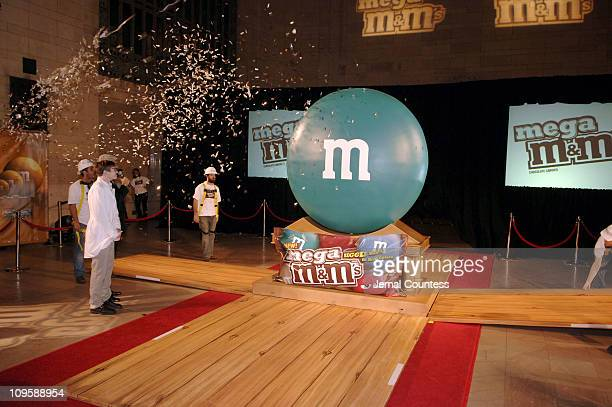 The unveiling of the Mega M&M's during John O'Hurley Joins M&M's Brand Chocolate Candies in Introducing the New Mega M&M's for Adults at Vanderbilt...