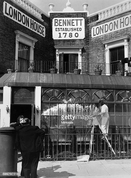 The unwelcome callers smeared the windows only days after angry demonstrators had picketed Bennett in the heart of Battersea South London Cleaners...