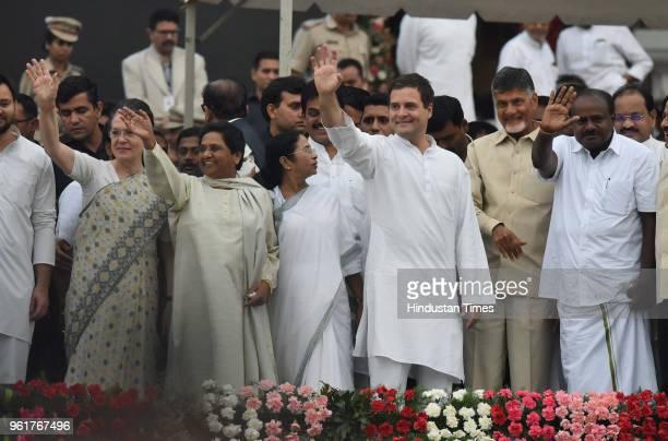 The UPA Chairperson Sonia Gandhi BSP Chief Mayawati West Bengal Chief Minister Mamata Banerjee Congress President Rahul Gandhi Andhra Pradesh Chief...
