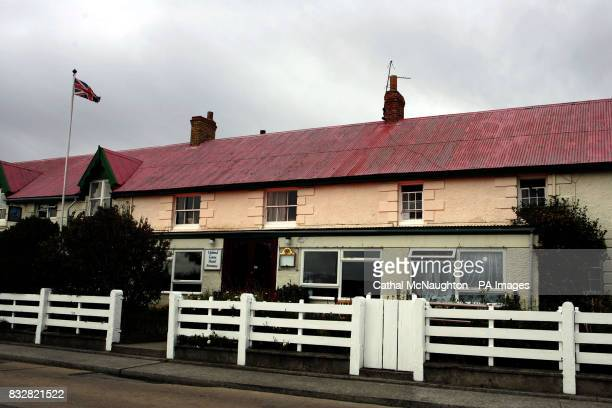The Upland Goose Hotel located on Ross Road in Stanley the capital of the Falkland Islands