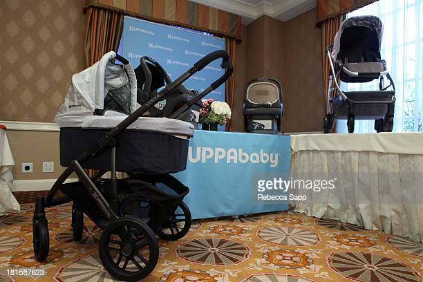 The Uppababy table is seen at the HBO Luxury Lounge featuring Motorola and PANDORA Jewelry in honor of The 65th Primetime Emmy Awards at The Four...