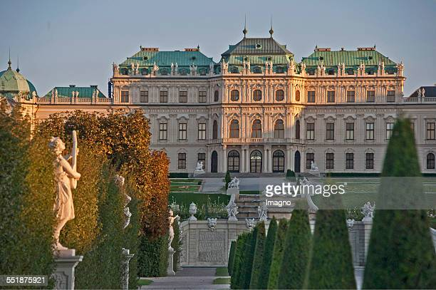 The Upper Belvedere Palace with garden Vienna 2013 Photograph by Gerhard Trumler