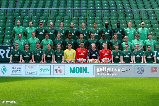 The upper row with goalkeeper coach Christian Vander doctor Daniel Hellermann Milos Veljovic Luca Caldirola Aron Johannsson Justin Eilers Niklas...