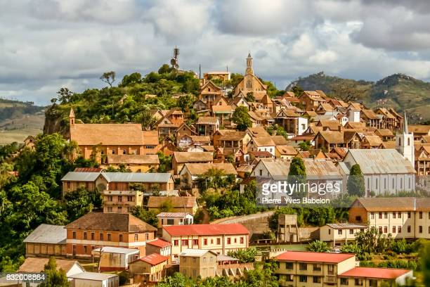 the upper town of fianarantsoa - madagascar stock photos and pictures