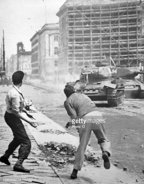 The Uprising of 1953 in East Germany was violently suppressed by tanks of the Group of Soviet Forces.