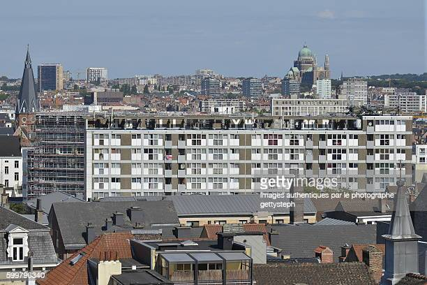 the urban landscape of brussels capitale region - regione di bruxelles capitale foto e immagini stock