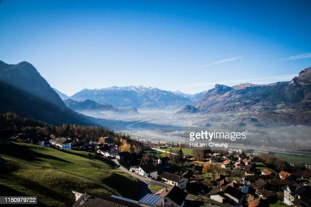 the urban view of liechtenstein - liechtenstein stock pictures, royalty-free photos & images