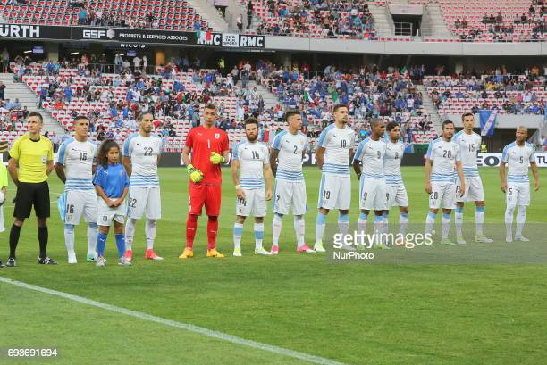 The Uruguay National Team before the international friendly between Italy and Uruguay at Allianz Riviera stadium on June 7 2017 in Nice France Italy...