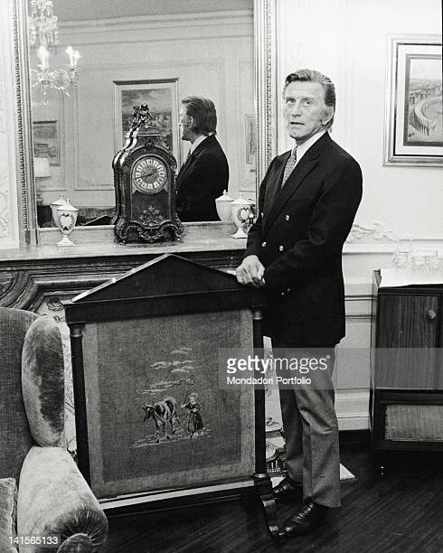 The US actor Kirk Douglas is photographed in a hotel in Italy during an interview Rome 1971
