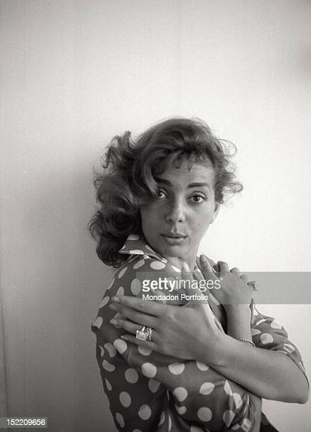 The US actress and singer Abbe Lane Rome June 1957