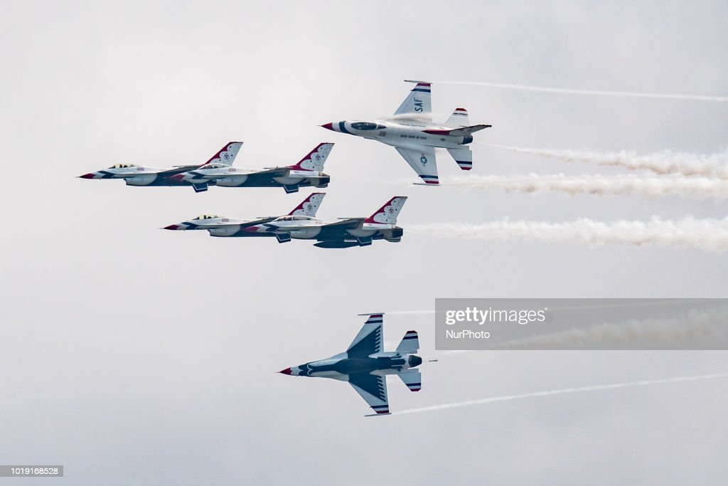U.S. Air Force Thunderbirds Perform In Chicago