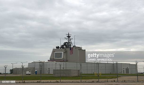The US antimissile station Aegis Ashore Romania is pictured at the military base in Deveselu Romania on May 12 2016 Aegis Ashore is a landbased...