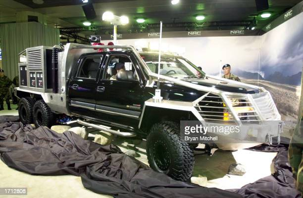 The U.S. Army's new SmarTruck II is on display at the North America International Auto Show January 7, 2003 in Detroit, Michigan. The...