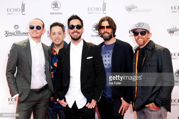 The US band 'Linkin Park' during the Echo award red carpet on April 6 2017 in Berlin Germany