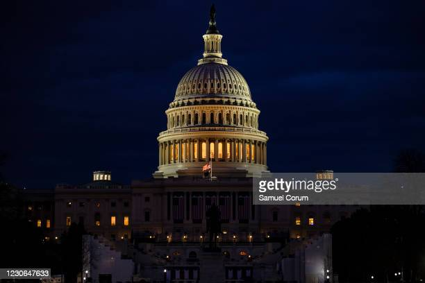 The U.S. Capitol and the stages built for the Presidential Inauguration ceremony on January 17, 2021 in Washington, DC. After last week's riots at...