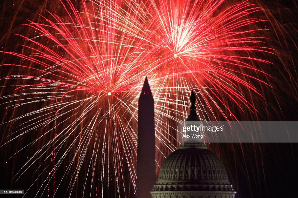 Fireworks Explode Over Nation's Capital In Celebration Of Independence Day : News Photo