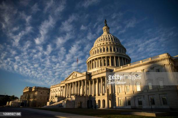 The US Capitol building is pictured on November 7 2018 in Washington DC