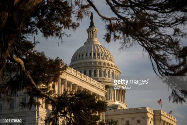 The US Capitol Building seen on February 5 2019 in Washington DC President Trump delivers his State of the Union address tonight in Washington a week...