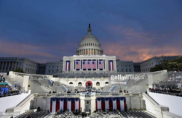 The US Capitol building stands ahead of the 58th presidential inauguration in Washington DC US on Friday Jan 20 2017 Donald Trump is the first...