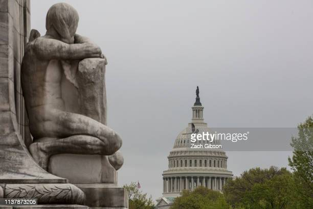 The US Capitol Building stands on April 18 2019 in Washington DC Later today the Justice Department will release special counsel Mueller's report on...