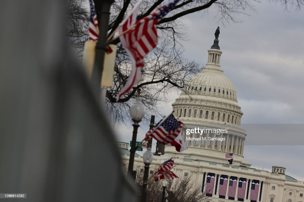 Protests Expected In Washington DC Ahead Of Biden Inauguration : Nachrichtenfoto