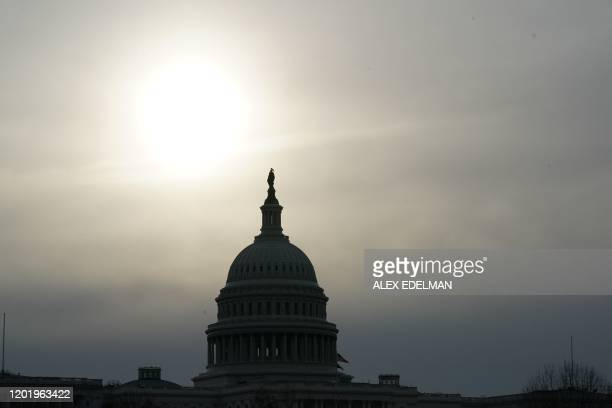The US Capitol dome is viewed on February 20, 2020 in Washington,DC.