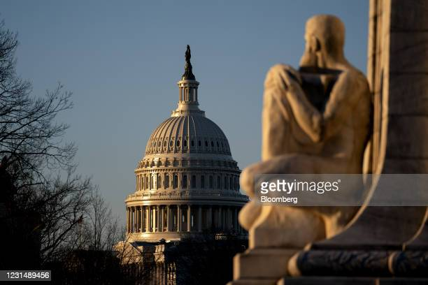 The U.S. Capitol in Washington, D.C., U.S., on Wednesday, March 3, 2021. President Biden's imperative of swiftly passing his $1.9 trillion...
