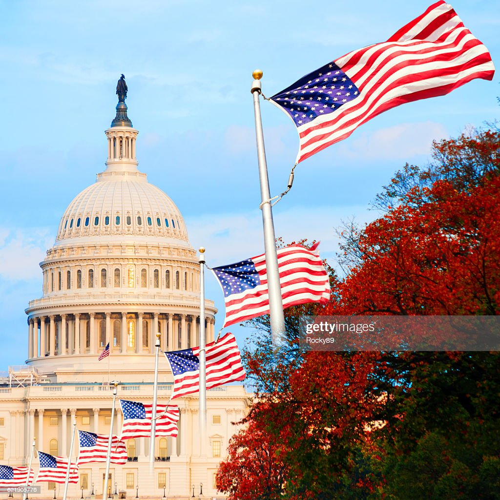 The US Capitol in Washington D.C., USA, at sunset : Stock Photo