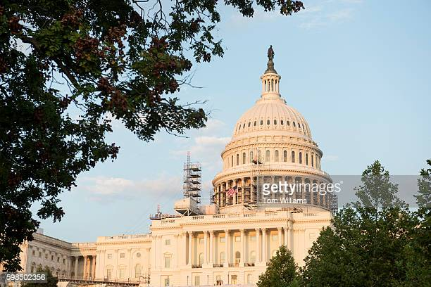 The US Capitol is pictured from the West Front August 31 2016