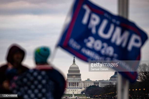 The U.S. Capitol is seen across the National Mall as supporters of President Donald Trump begin to gather for a rally on January 6, 2021 in...