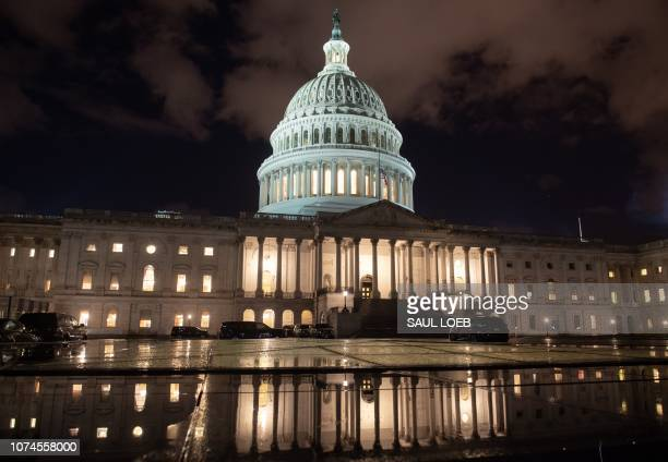 The US Capitol is seen ahead of a possible government shutdown in Washington DC December 21 2018 The US House of Representatives adjourned on...