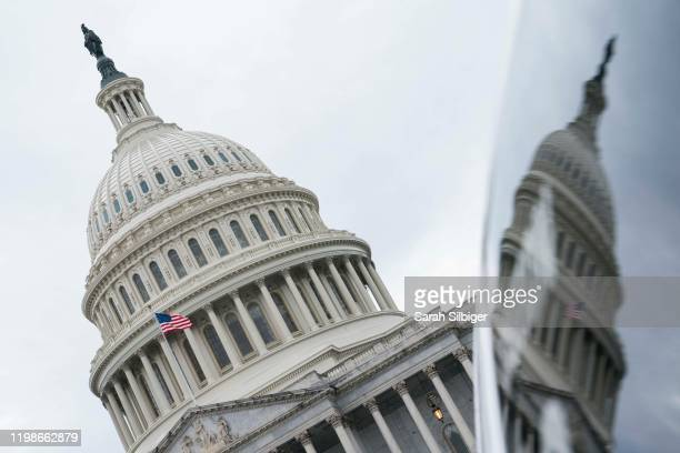 The U.S. Capitol is seen ahead of the State of the Union on February 4, 2020 in Washington, DC. U.S. President Donald Trump is expected to deliver...