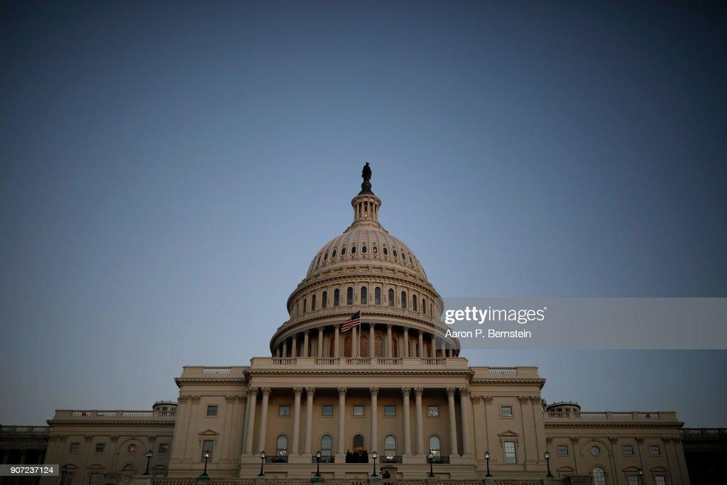 Senate Debates Passage Of Continuing Resolution As Shutdown Deadline Looms : News Photo