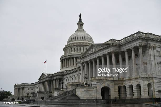 The US Capitol is seen in Washington, DC on August 4, 2020. - Asian stocks rallied Tuesday following another record close on Wall Street, with...