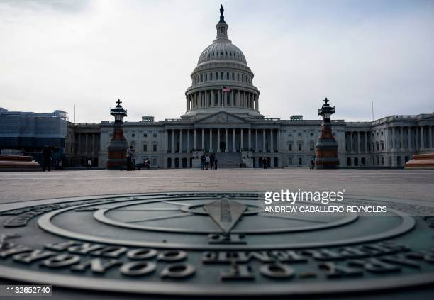 The US Capitol is seen in Washington DC on March 24 2019 Congress has received a letter from the US Justice Department on Special Counsel Robert...