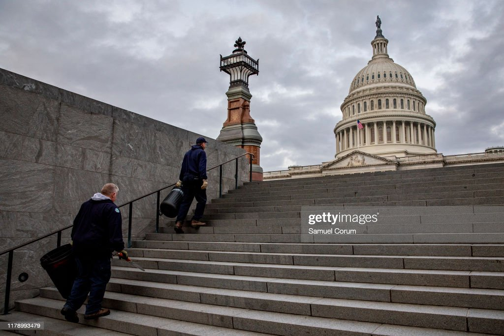 House Continues Closed-Door Depositions On Capitol Hill For House Impeachment Inquiry : ニュース写真