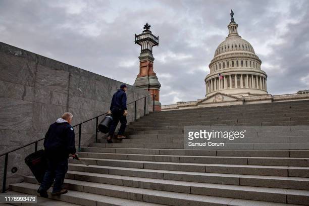 The US Capitol is seen on October 30 2019 in Washington DC State Department special adviser for Ukraine Catherine Croft and State Department official...