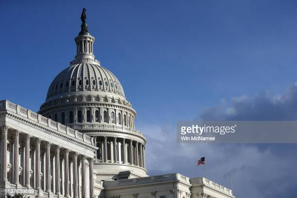 The US Capitol is shown after US Attorney General William Barr told the House and Senate Judiciary Committees in a letter that Special Counsel Robert...