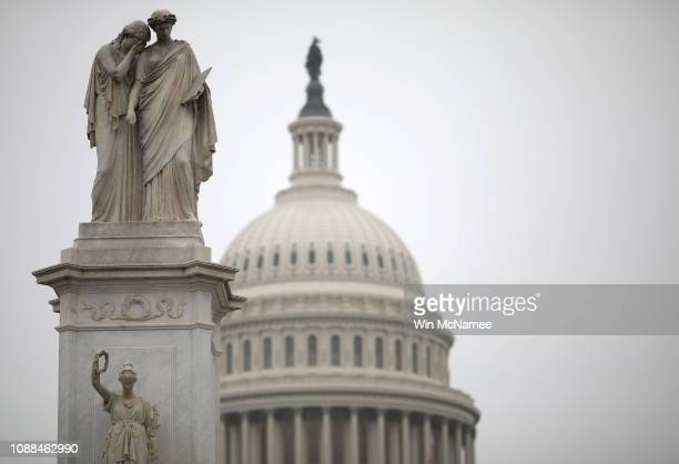 The U.S. Capitol is shown during a partial shutdown of the federal government on December 31, 2018 in Washington, DC. The partial shutdown will...