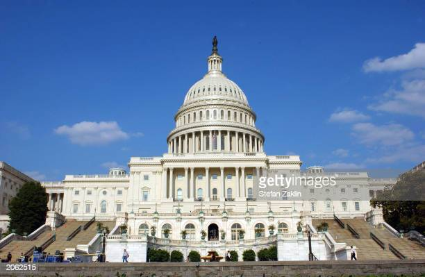 The U.S. Capitol is shown June 5, 2003 in Washington, DC. Both houses of the U.S. Congress, the U.S. Senate and the U.S. House of Representatives...