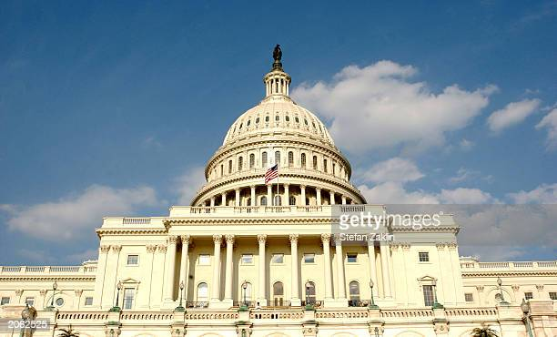 The US Capitol is shown June 5 2003 in Washington DC Both houses of the US Congress the US Senate and the US House of Representatives meet in the...