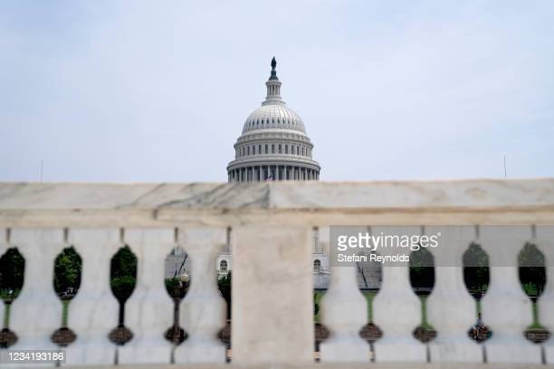 The U.S. Capitol on July 25, 2021 in Washington, DC. Lawmakers are working to finalize an infrastructure agreement before the August recess, but may...