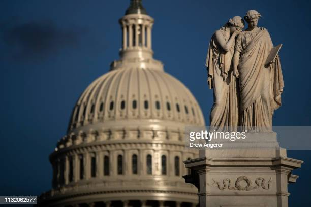 The U.S. Capitol stands after Attorney General William Barr told the House and Senate Judiciary Committees in a letter that Special Counsel Robert...