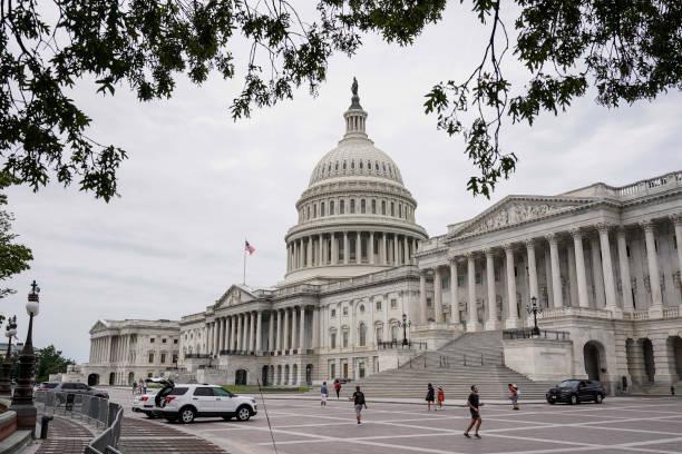 DC: U.S. Senate Continues Debate On Infrastructure Bill