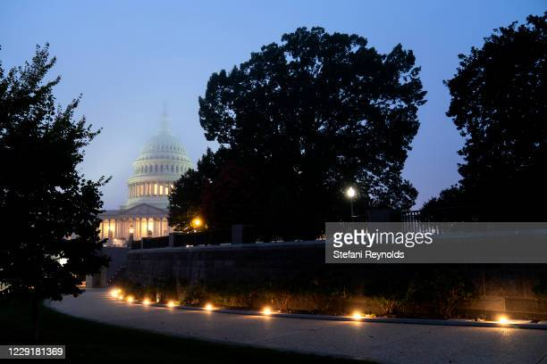 The U.S. Capitol stands in the early morning on October 20, 2020 in Washington, DC. Senate Republicans are looking to hold a confirmation vote for...