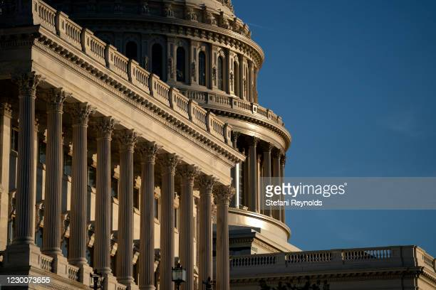 The U.S. Capitol stands on December 11, 2020 in Washington, DC. The Senate passed a one week stop-gap bill on Friday, avoiding a partial government...