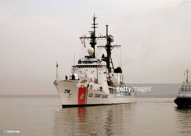 The US Coast Guard cutter Dallas arrives in Batumi Georgia to deliver humanitarian aid to victims of the RussiaGeorgia conflict Wednesday August 27...
